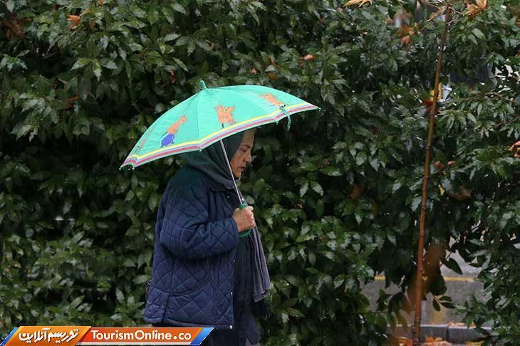 بارش باران در محورهای البرز و تهران