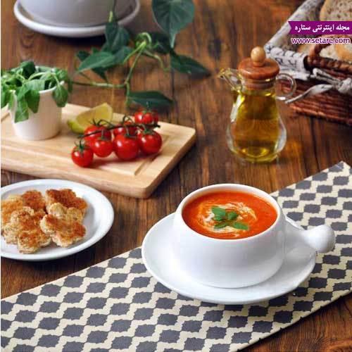 طرز تهیه سوپ گوجه فرنگی و برنج